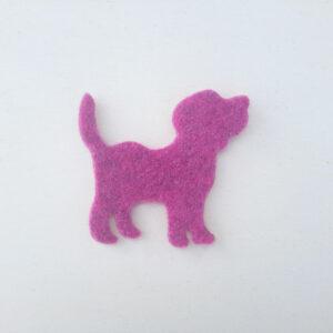Sagoma cane in feltro - Cose di laura creatività in feltro
