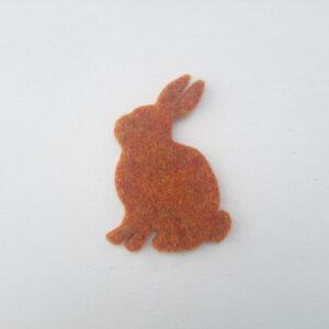 Sagoma coniglio in feltro - Cose di Laura creatività in feltro