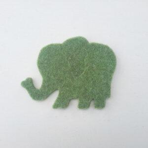 Sagoma elefante in feltro - Cose di Laura creatività in feltro