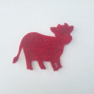 Sagoma mucca in feltro - Cose di Laura creatività in feltro