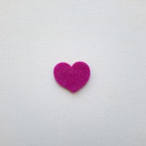 Sagoma cuore mignon in feltro - Cose di Laura creatività in feltro