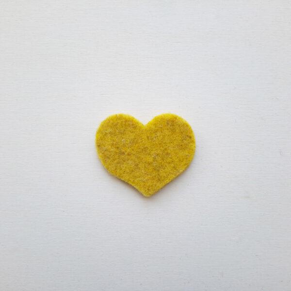 Sagoma cuore piccolo in feltro - Cose di Laura creatività in feltro