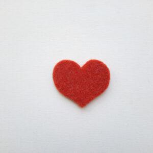 Sagoma cuore medio in feltro - Cose di Laura creatività in feltro
