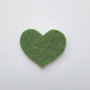 Sagoma cuore grande in feltro- Cose di Laura creatività in feltro