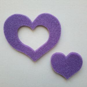 Sagoma cuore doppio in feltro - Cose di Laura creatività in feltro