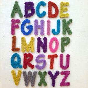 Sagome lettere in feltro - Cose di Laura creatività in feltro