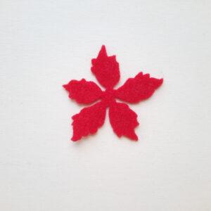 Sagoma petalo medio Stella di Natale in feltro - Cose di Laura creatività in feltro