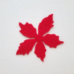 Sagoma petalo grande stella di Natale in feltro - Cose di Laura creatività in feltro