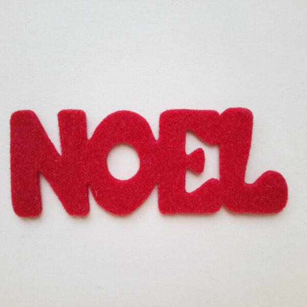 Sagoma scritta NOEL in feltro - Cose di Laura creatività in feltro