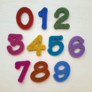 Sagome numeri in feltro - Cose di Laura creatività in feltro