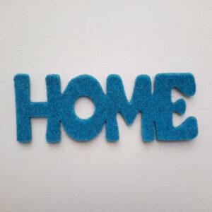 Sagoma scritta home - Cose di Laura creatività in feltro