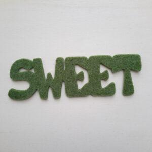 Sagoma scritta sweet - Cose di Laura creatività in feltro