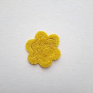 Spirale rosa piccola stondata in feltro - Cose di Laura creatività in feltro