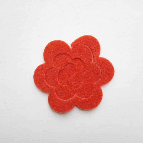 Spirale rosa media stondata in feltro - Cose di Laura creatività in feltro