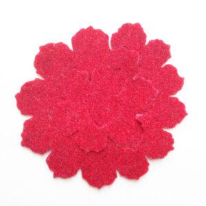 Sagoma spirali rosa grande frastagliata in feltro - Cose di Laura creatività in feltro