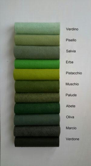 Pannolana nella gamma del verde - Cose di laura creatività in feltro