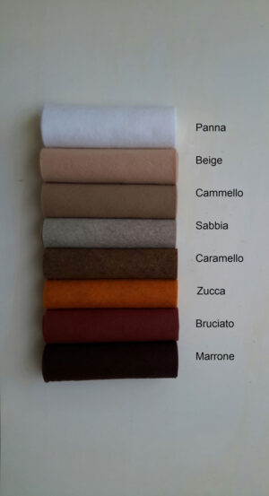 Pannolana nella gamma dal panna al marrone - Cose di Laura creatività in feltro