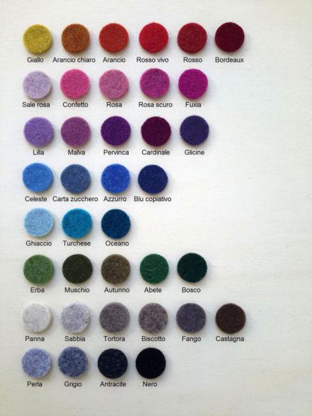 Cartella colori sagome in fletro - Cose di laura creatività in feltro