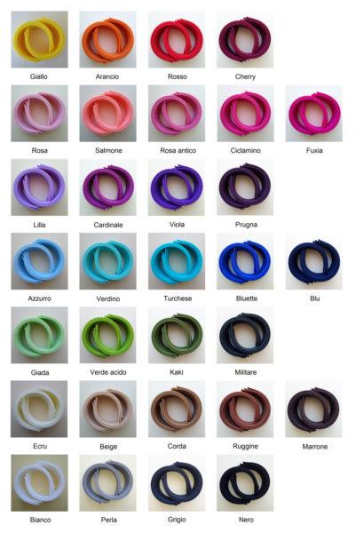 Campionario colori cerchietti sottili - Cose di Laura creatività in feltro