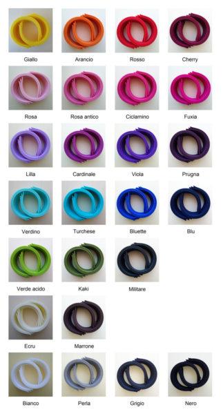 Campionario colori cerchietti spessi - Cose di Laura creatività in feltro
