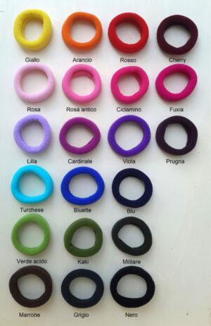 Campionario colori elastici grandi - Cose di laura creatività in feltro
