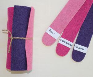 Dettaglio girella rosa rosa scuro glicine - Cose di Laura creatività in feltro