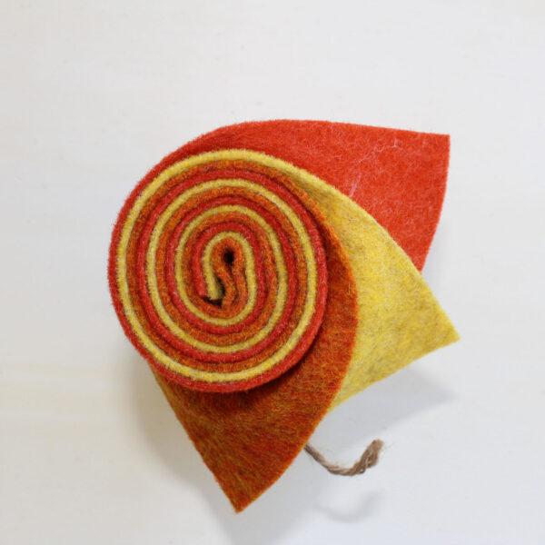 Girella feltro 2 mm arancio,. giallo, arancio chiaro - Cose di Laura creatività in feltro