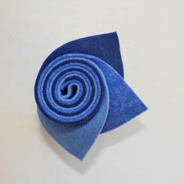 Girella feltro 2 mm celeste, azzurro e blu copiativo - Cose di Laura creatività in feltro