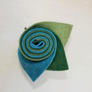 Girella feltro 2 mm erba, turchese e abete - Cose di Laura creatività in feltroo