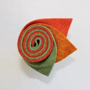 Girella feltro 2 mm arancio, erba e arancio chiaro - Cose di Laura creatività in feltro