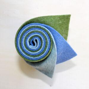 Girella feltro 2 mm ghiaccio, celeste e erba - Cose di Laura creatività in feltro