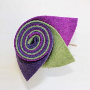 Girella feltro 2 mm pervinca, erba e glicine - Cose di Laura creatività in feltro