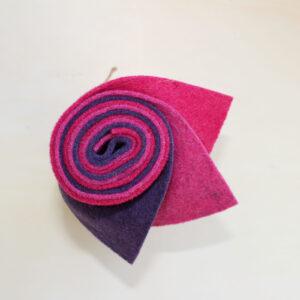 Girella fragola, rosa scuro e glicine - Cose di Laura creatività in feltro