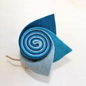 Girella feltro 2 mm ghiaccio, turchese e oceano - Cose di Laura creatività in feltro