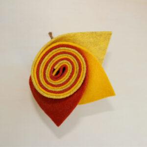 Girella feltro 2 mm giallo, sole e arancio - Cose di Laura creatività in feltro