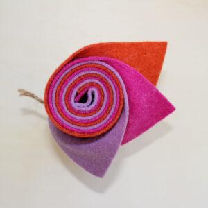 Girella feltro 2 mm lilla, fuxia e arancio - Cose di Laura creatività in feltro