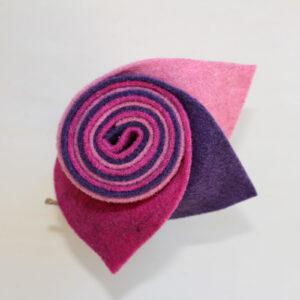 Girella feltro 2 mm rosa, rosa scuro e glicine - Cose di Laura creatività in feltro