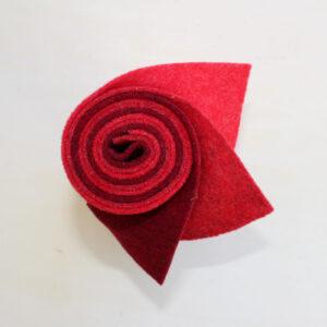 Girella feltro 2 mm rosso, rosso vivo, bordeaux - Cose di Laura creatività in feltro