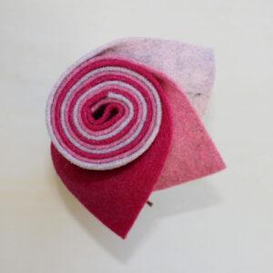 Girella feltro 2 mm sale rosa, rosa e fragola