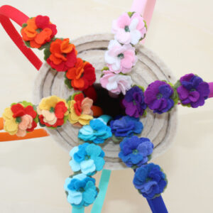 Cerchietti tre fiorellini - Cose di Laura creatività in feltro