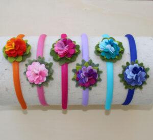 Cerchietti fiore - Cose di Laura creatività in feltro