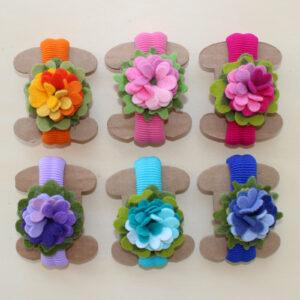 Elastici grandi fiore - Cose di Laura creatività in feltro