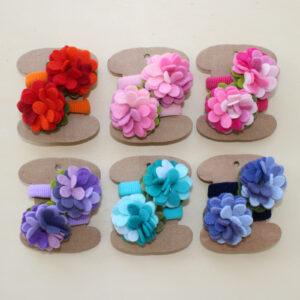 Elastici piccoli fiore - Cose di Laura creatività in feltro