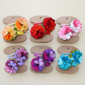 Elastico piccolo + molletta fiore - Cose di Laura creatività in feltro