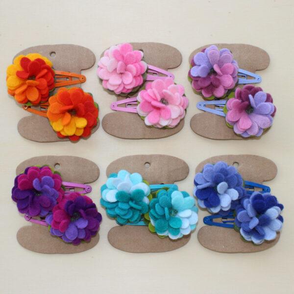 Mollette fiore - Cose di Laura creatività in feltro