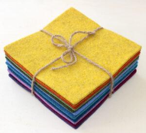 Quadrotti 3 mm arcobaleno - Cose di Laura creatività in feltro