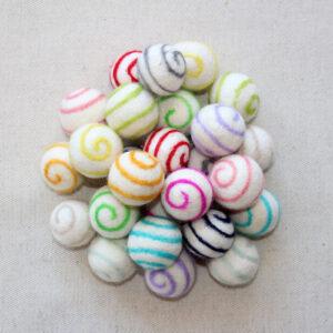 Palline a spirale 2,5 cm