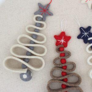 """Alberello di Natale """"zig zag"""" panna e grigio - Cose di Laura creatività in feltro"""