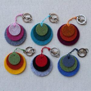 Portachiave cerchi in feltro - Cose di Laura creatività in feltro