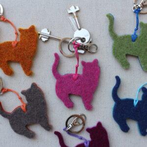 Portachiave a gatto in feltro - Cose di Laura creatività in feltro